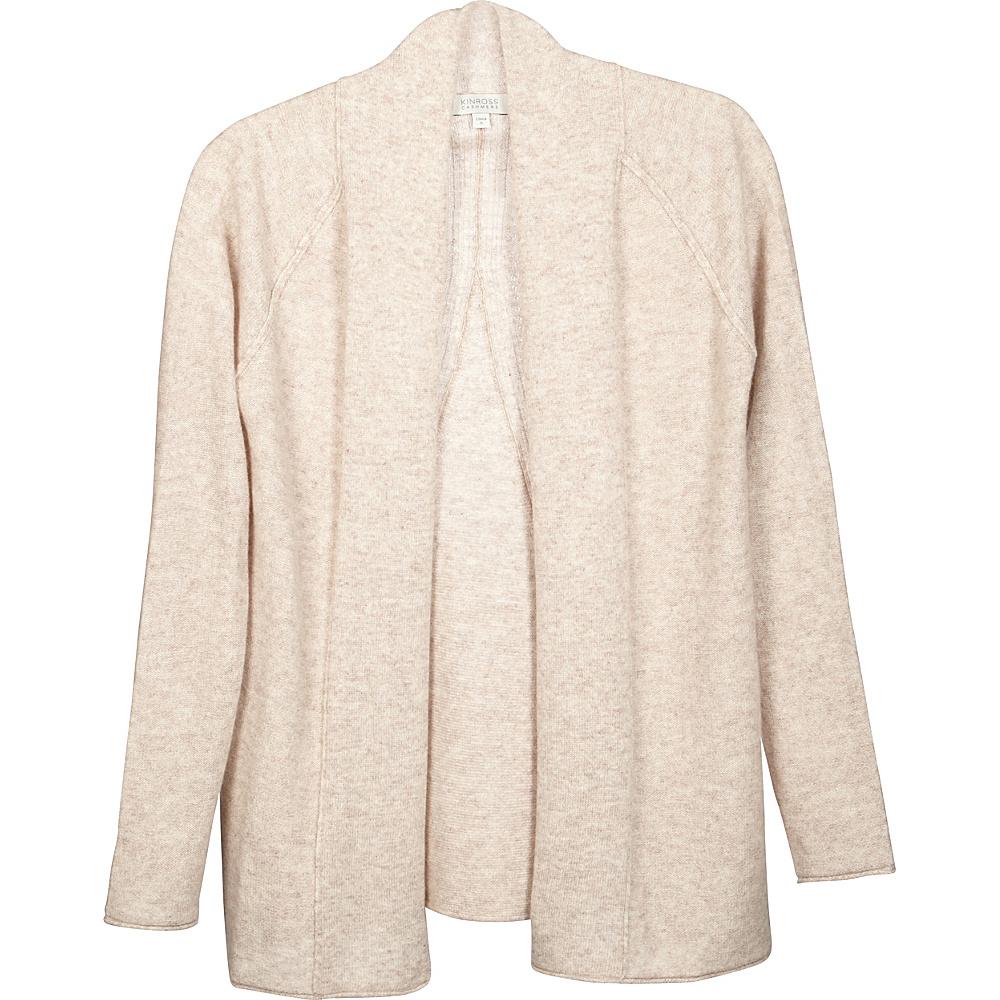 Kinross Cashmere Swing Back Cardigan XS - Fawn - Kinross Cashmere Womens Apparel - Apparel & Footwear, Women's Apparel