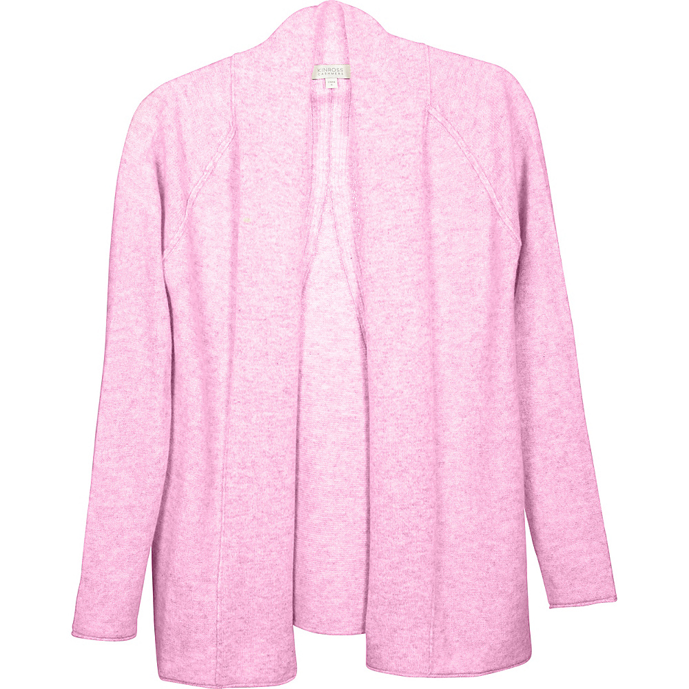 Kinross Cashmere Swing Back Cardigan S - Orchid - Kinross Cashmere Womens Apparel - Apparel & Footwear, Women's Apparel