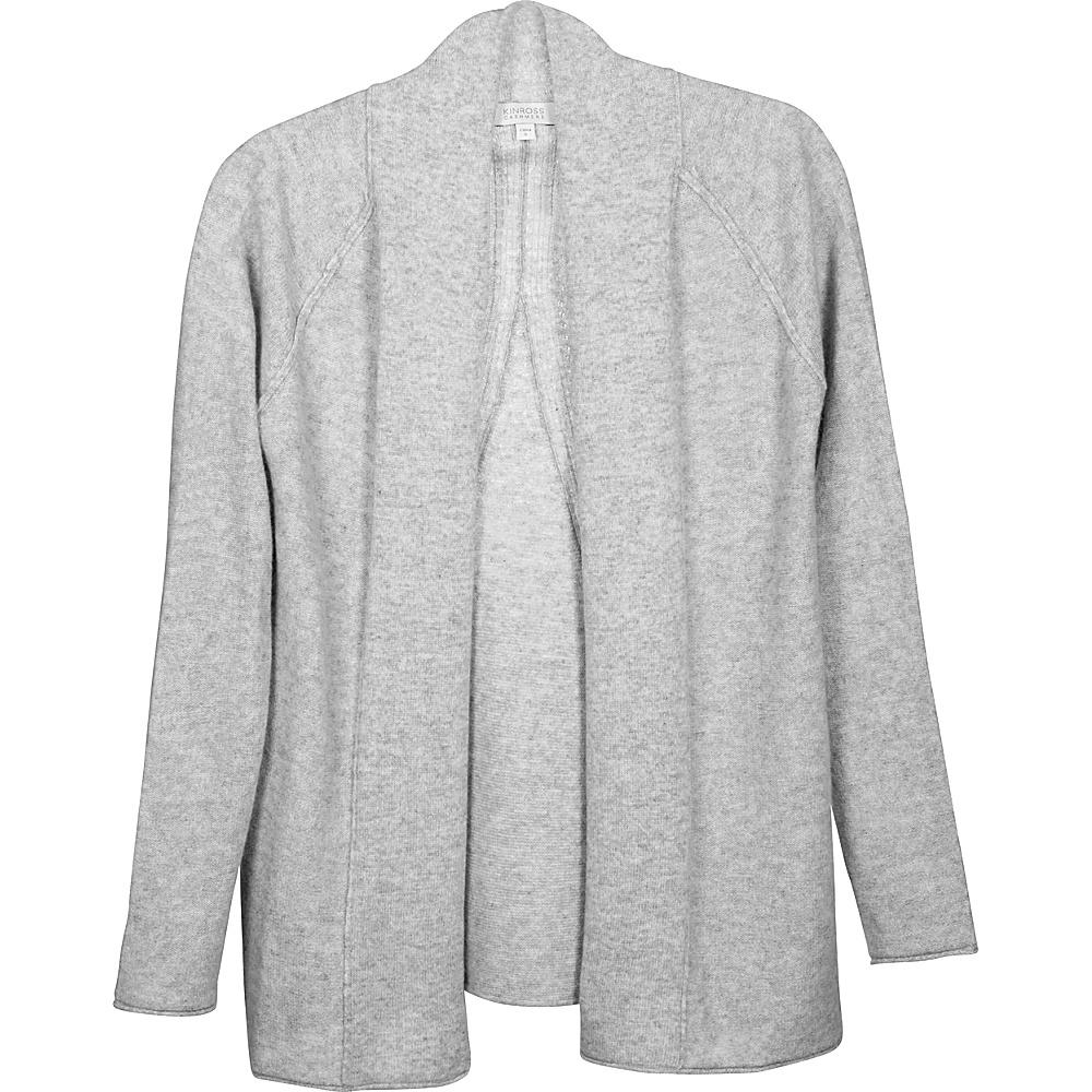 Kinross Cashmere Swing Back Cardigan XS - Sterling - Kinross Cashmere Womens Apparel - Apparel & Footwear, Women's Apparel