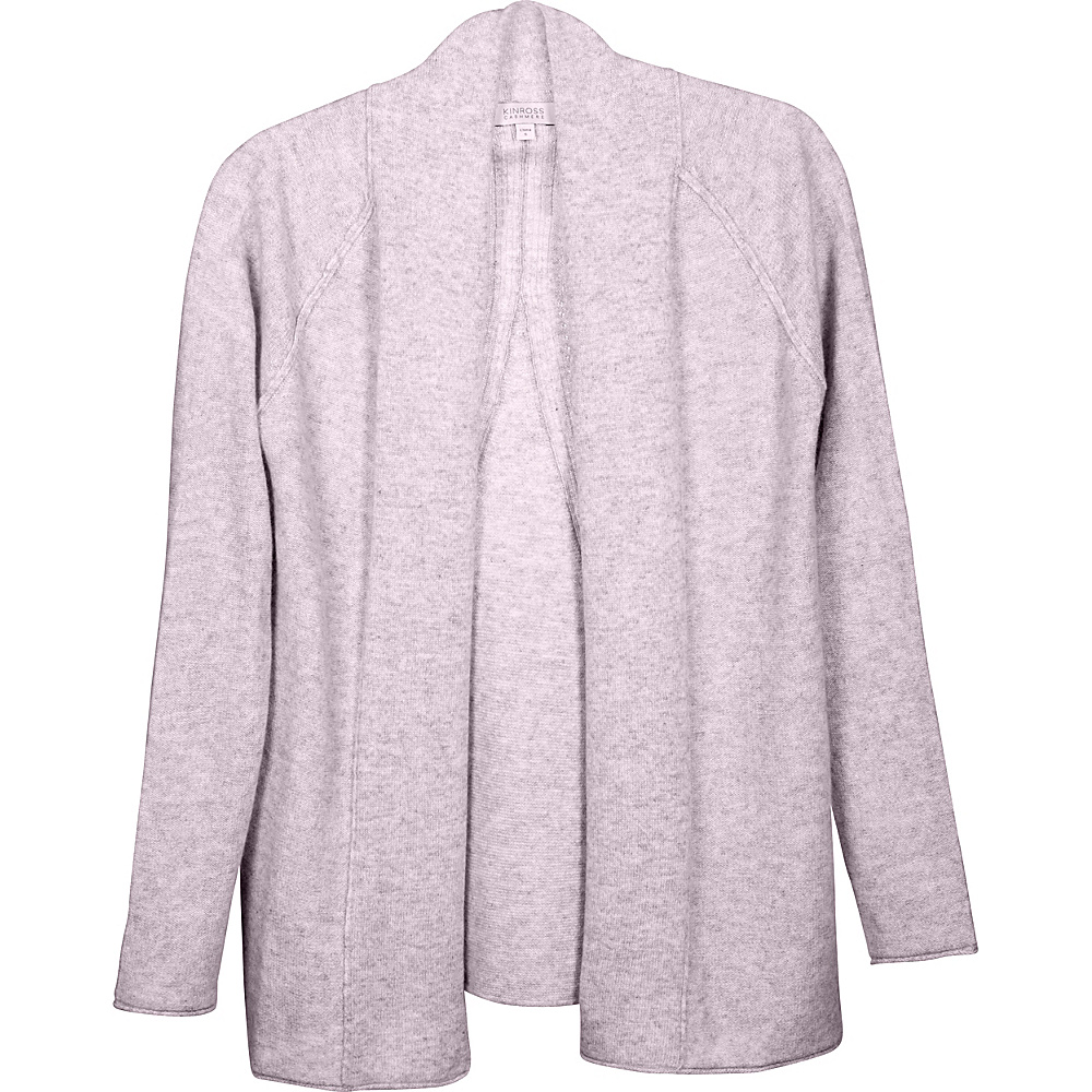 Kinross Cashmere Swing Back Cardigan XS - Thistle - Kinross Cashmere Womens Apparel - Apparel & Footwear, Women's Apparel