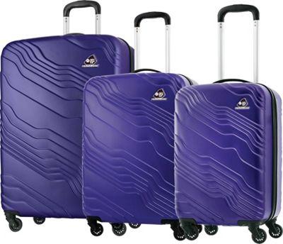 Kamiliant Kanyon 3 Piece Hardside Spinner Luggage Set Royal Blue - Kamiliant Luggage Sets