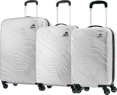 Kamiliant Kanyon 3 Piece Hardside Spinner Luggage Set Silver - Kamiliant Luggage Sets