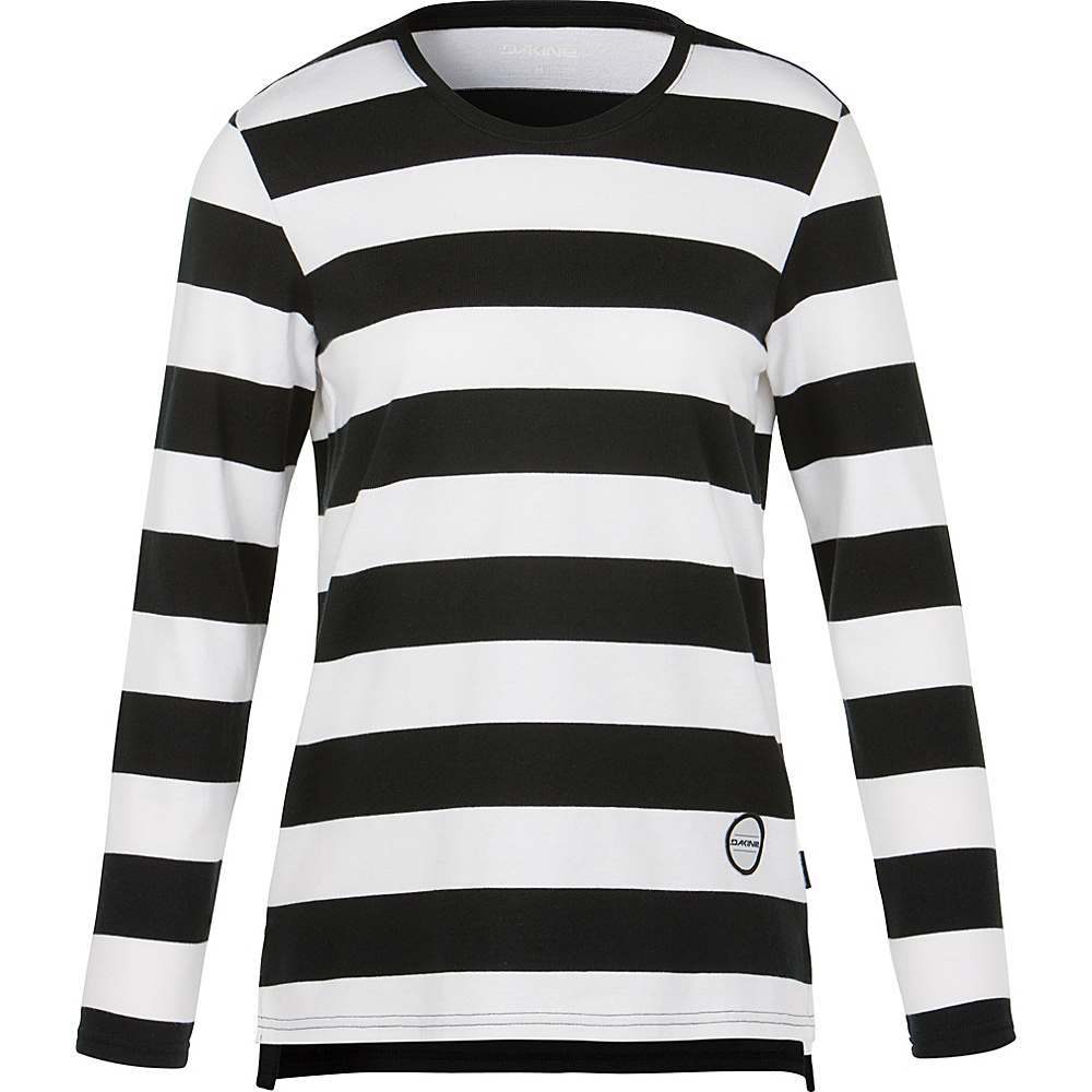 DAKINE Womens Marion Striped Jersey L - Black/White - DAKINE Womens Apparel - Apparel & Footwear, Women's Apparel