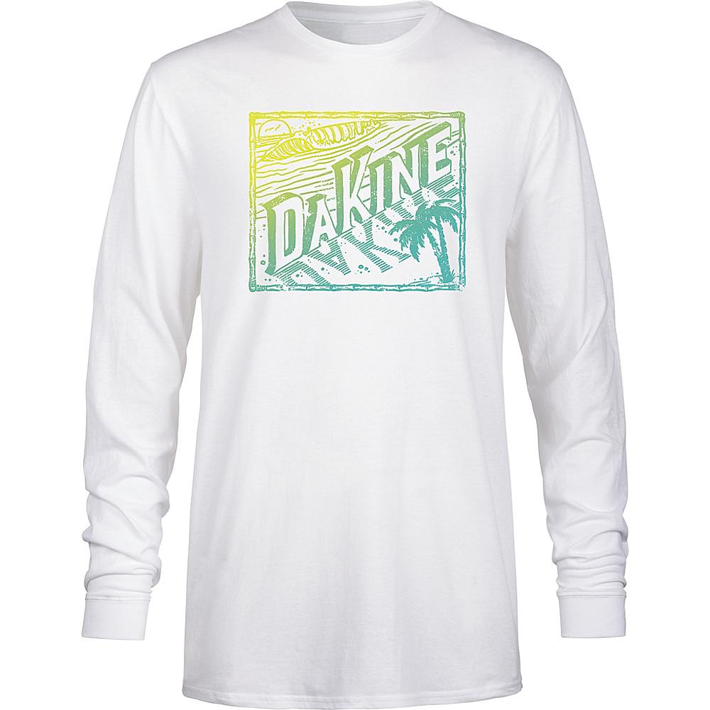 DAKINE Mens Da Beach Long Sleeve Shirt L - White - DAKINE Mens Apparel - Apparel & Footwear, Men's Apparel