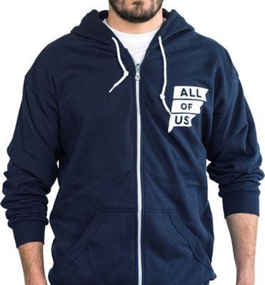 All of Us Mens Zip Up Sweatshirt XL - Navy - All of Us Men's Apparel