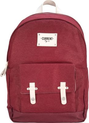 Current Bag Co Classic Charging Backpack Burgundy - Current Bag Co Everyday Backpacks
