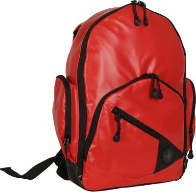 BODY GLOVE Long Lat Crescent Laptop Backpack Red - BODY GLOVE Long Lat Business & Laptop Backpacks