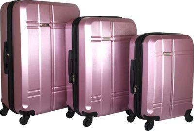 Isaac Mizrahi Conway 3 Piece Expandable Hardside Spinner Luggage Set Pink - Isaac Mizrahi Luggage Sets