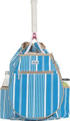 Ame & Lulu Kingsley Tennis Backpack Ticking Stripe - Ame & Lulu Racquet Bags