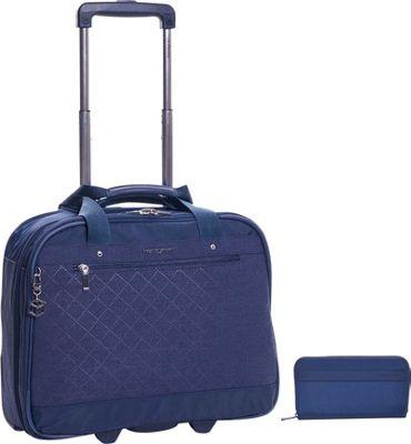 "Hedgren Onyx 15.6"""" Mobile Office Plus Won RFID Travel Wallet Set Dress Blue - Hedgren Wheeled Business Cases"