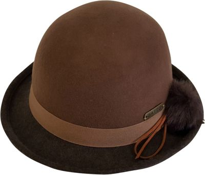 Hatch Hats Pom Cloche Hat One Size - Camel/Brown - Hatch Hats Hats/Gloves/Scarves
