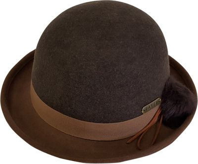 Hatch Hats Pom Cloche Hat One Size - Brown/Camel - Hatch Hats Hats/Gloves/Scarves