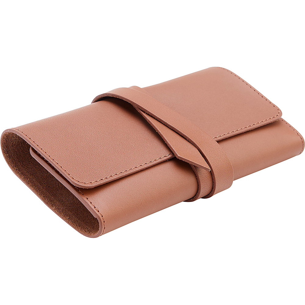 Royce Leather American Leather Cord Organizer Roll Tan - Royce Leather Portable Batteries & Chargers - Technology, Portable Batteries & Chargers