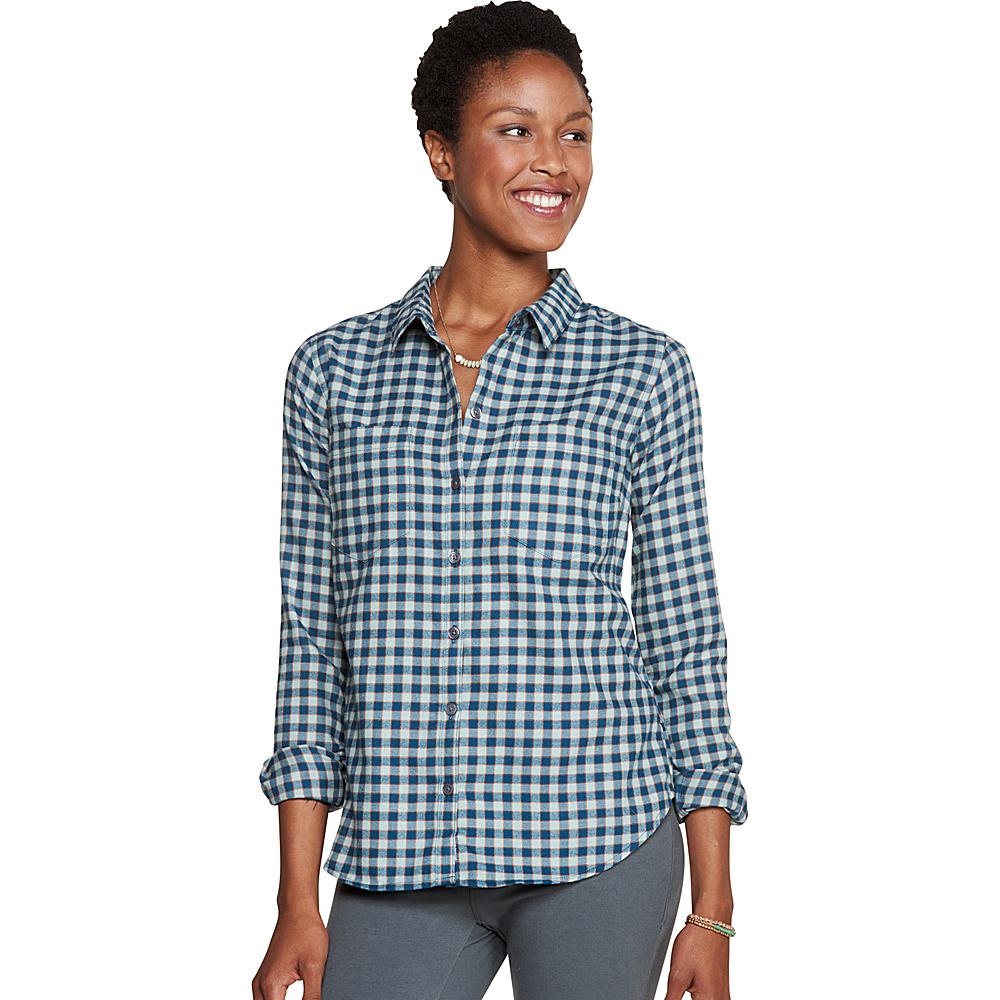 Toad & Co Dakotah Long Sleeve Travel Shirt XS - Borealis - Toad & Co Womens Apparel - Apparel & Footwear, Women's Apparel