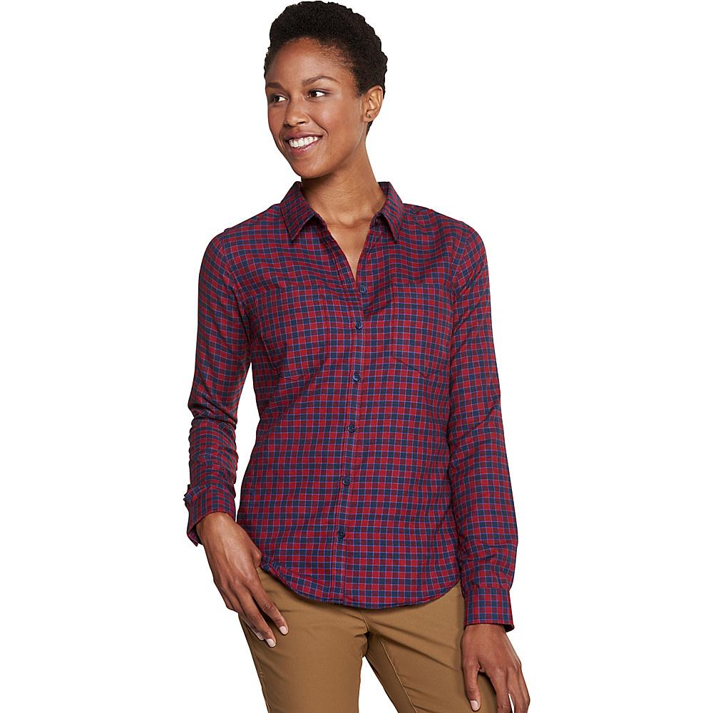 Toad & Co Dakotah Long Sleeve Travel Shirt S - Sanguine - Toad & Co Womens Apparel - Apparel & Footwear, Women's Apparel