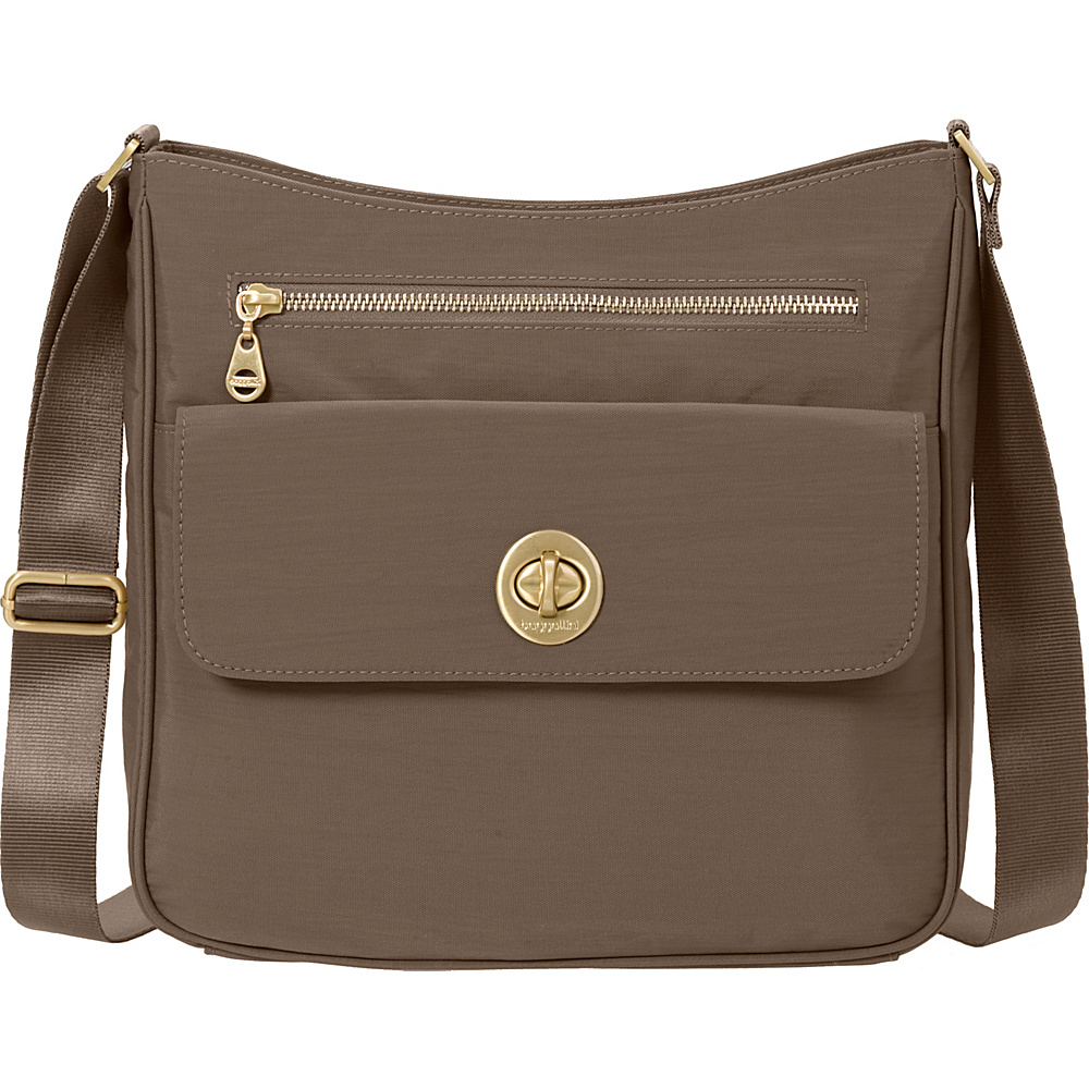 baggallini Antalya Top Zip Flap Crossbody Portobello - baggallini Fabric Handbags - Handbags, Fabric Handbags