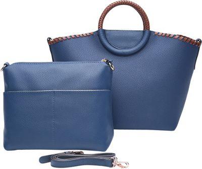 STYLE STRATEGY Ida Convertible Crossbody Blue - STYLE STRATEGY Manmade Handbags