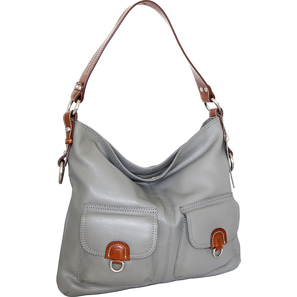 Nino Bossi Gabriella Shoulder Bag Stone - Nino Bossi Leather Handbags - Handbags, Leather Handbags