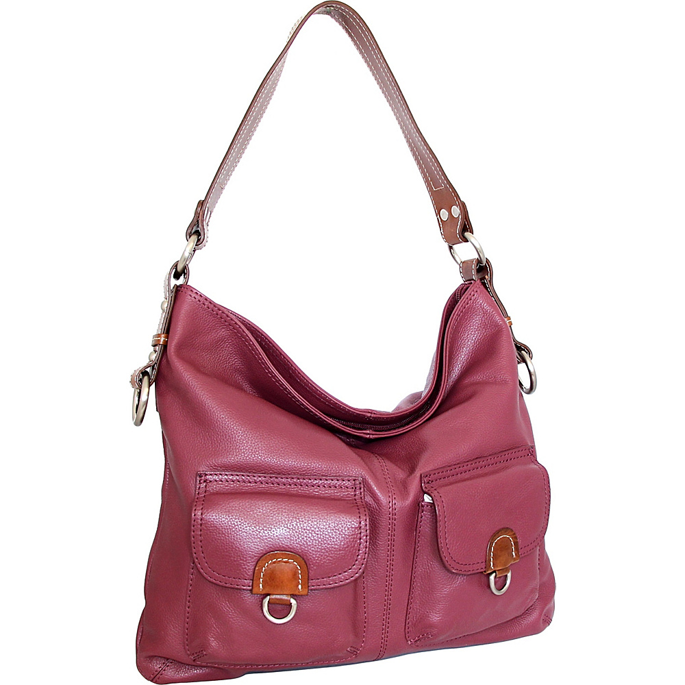 757c2b8328 Nino Bossi Gabriella Shoulder Bag Merlot - Nino Bossi Leather Handbags   Gabriella Shoulder Bag Merlot. A relaxed structure lends a casual-cool vibe  to this ...