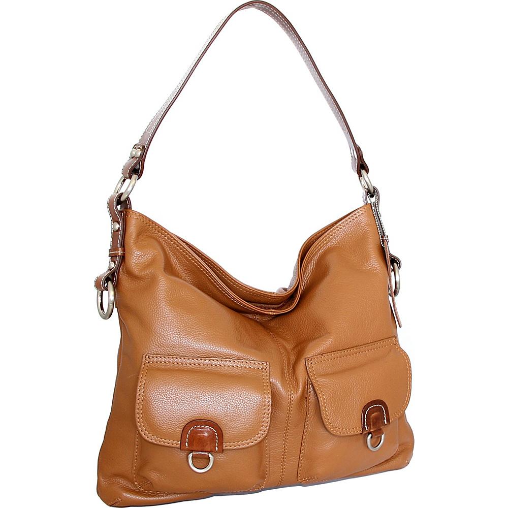 Nino Bossi Gabriella Shoulder Bag Cognac - Nino Bossi Leather Handbags - Handbags, Leather Handbags