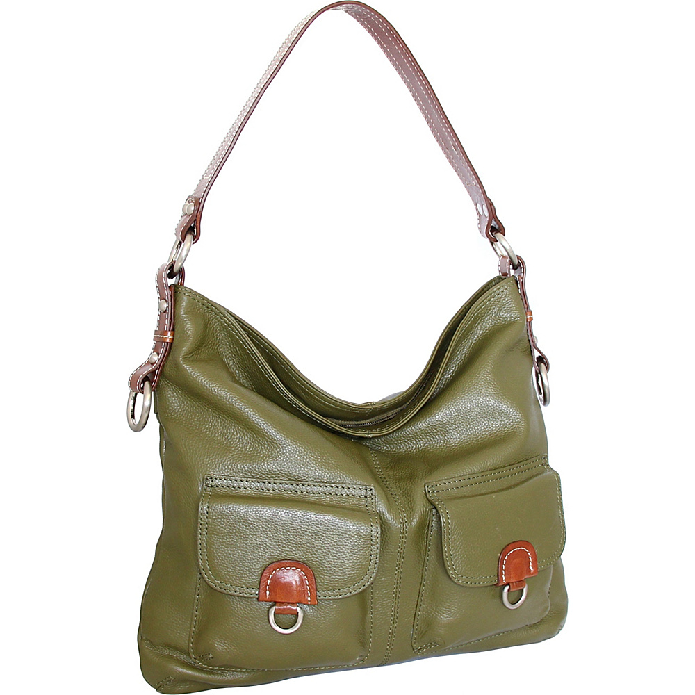 Nino Bossi Gabriella Shoulder Bag Loden - Nino Bossi Leather Handbags - Handbags, Leather Handbags