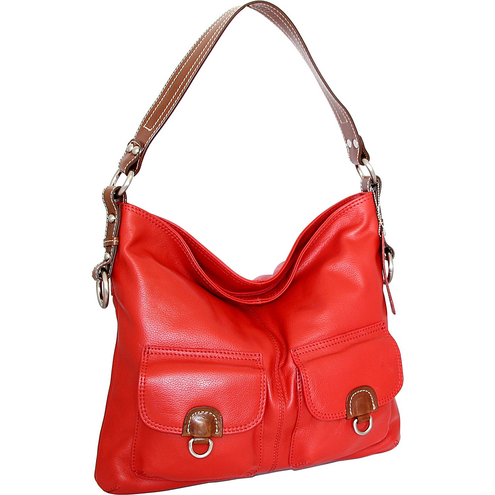 29dcf84f64 Nino Bossi Gabriella Shoulder Bag Crimson - Nino Bossi Leather Handbags   Gabriella Shoulder Bag Crimson. A relaxed structure lends a casual-cool  vibe to ...