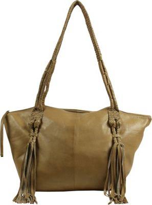 Day & Mood Elm Satchel Pale Khaki - Day & Mood Leather Handbags