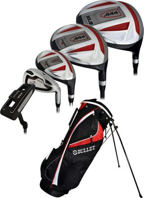 Ray Cook Golf Bullet .444 Complete Golf Set with Bag - Left Handed Red - Ray Cook Golf Golf Bags