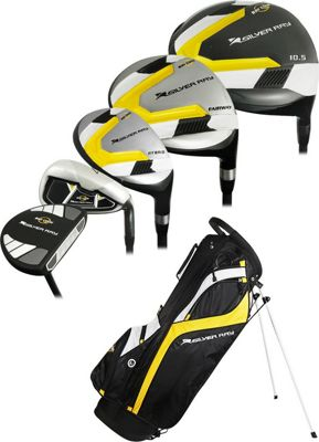 Ray Cook Golf Mens Golf Silver Ray 2 Complete Set with Bag +1 inch Inch Black - Ray Cook Golf Golf Bags