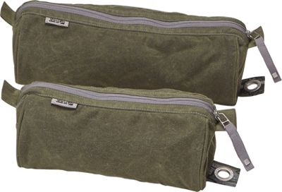 aTana Bags Stowe Toiletry Kit 12 inch Olive with Green Mandala - aTana Bags Travel Organizers