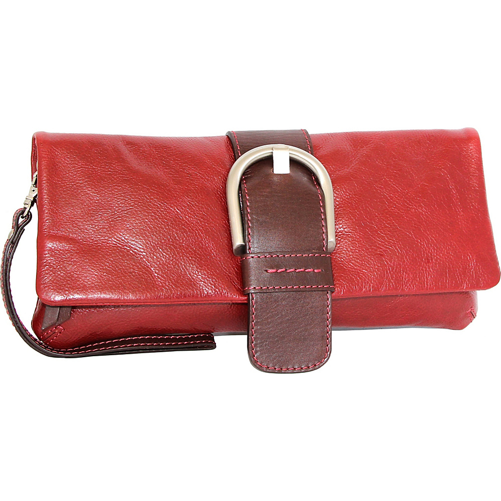 Nino Bossi Dakota Clutch Red - Nino Bossi Evening Bags - Handbags, Evening Bags