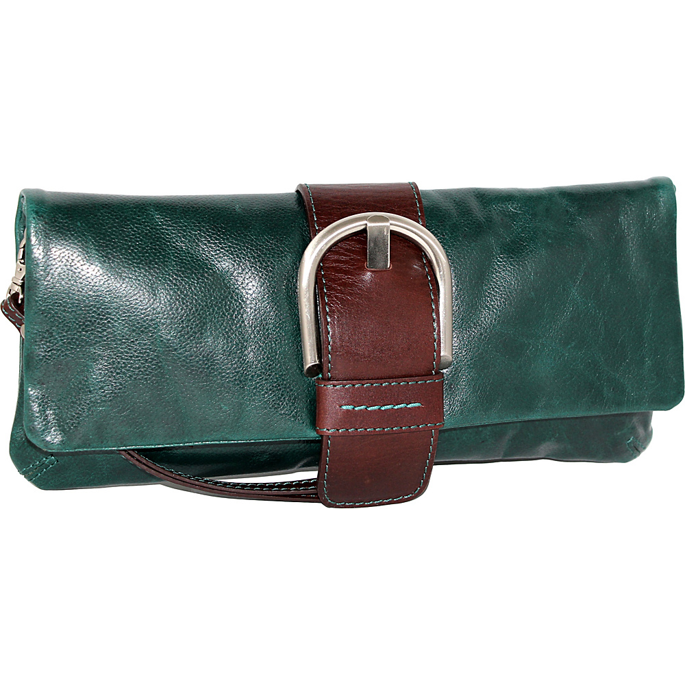 Nino Bossi Dakota Clutch Green - Nino Bossi Evening Bags - Handbags, Evening Bags