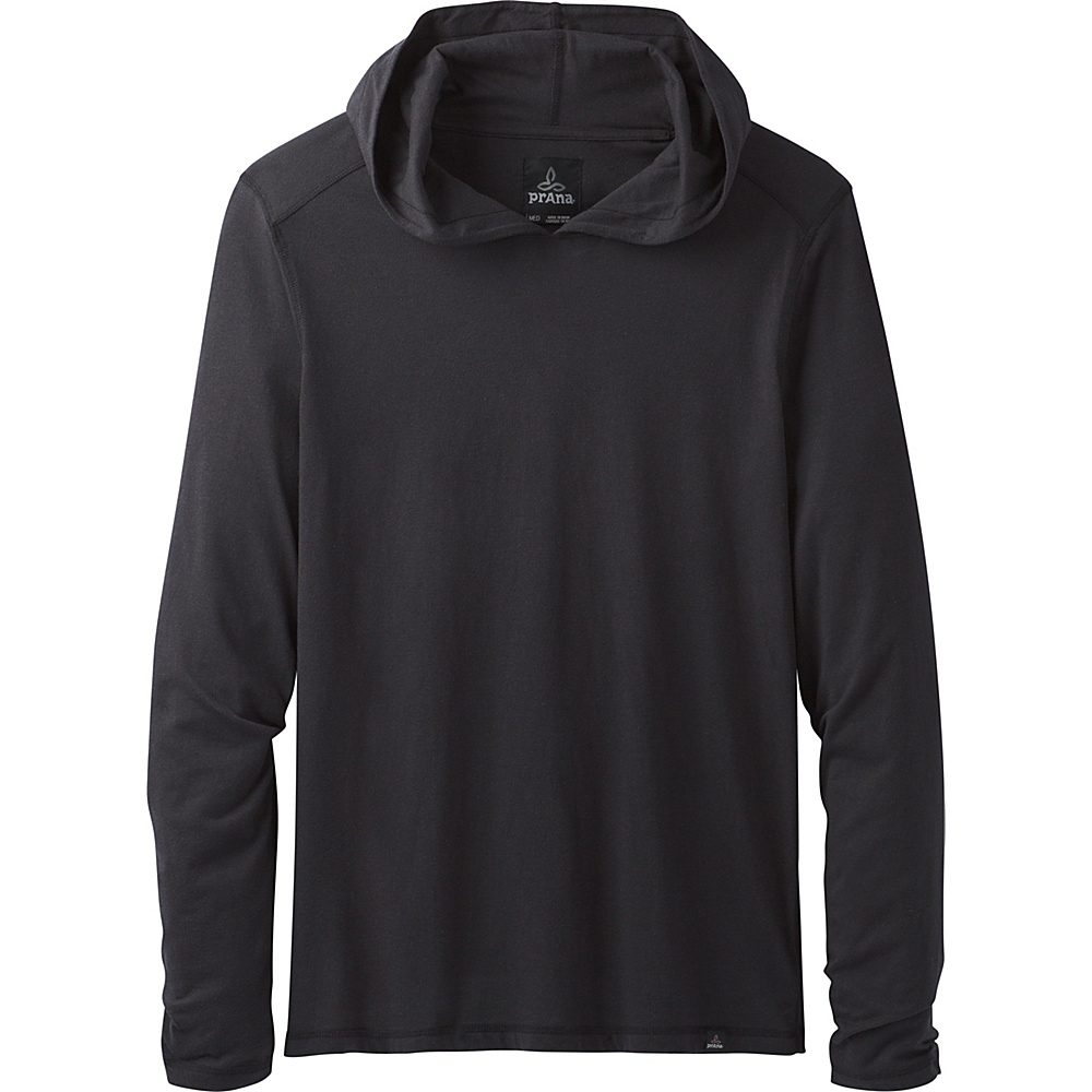 PrAna PrAna Long Sleeve Hood S - Black - PrAna Mens Apparel - Apparel & Footwear, Men's Apparel