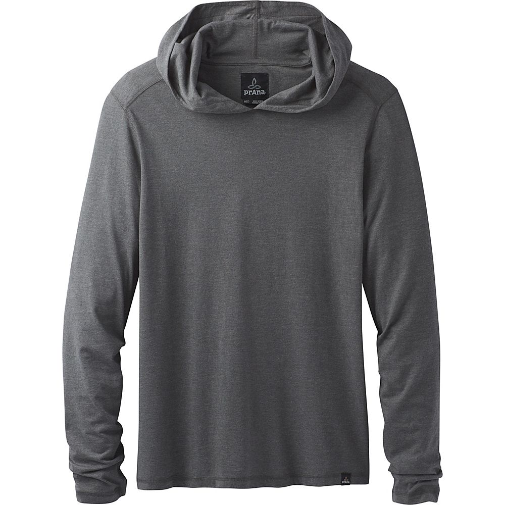 PrAna PrAna Long Sleeve Hood L - Charcoal Heather - PrAna Mens Apparel - Apparel & Footwear, Men's Apparel