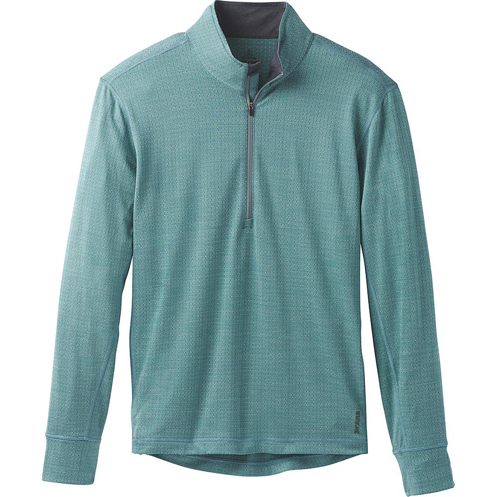 PrAna Pratt 1/4 Zip M - Starling Green - PrAna Mens Apparel - Apparel & Footwear, Men's Apparel