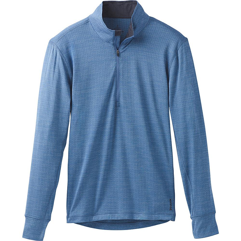 PrAna Pratt 1/4 Zip S - Sunbleached Blue - PrAna Mens Apparel - Apparel & Footwear, Men's Apparel