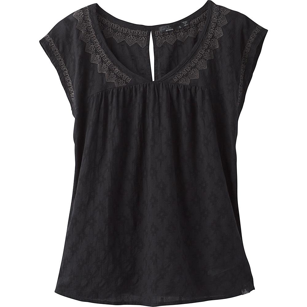 PrAna Blossom Top XS - Black - PrAna Womens Apparel - Apparel & Footwear, Women's Apparel