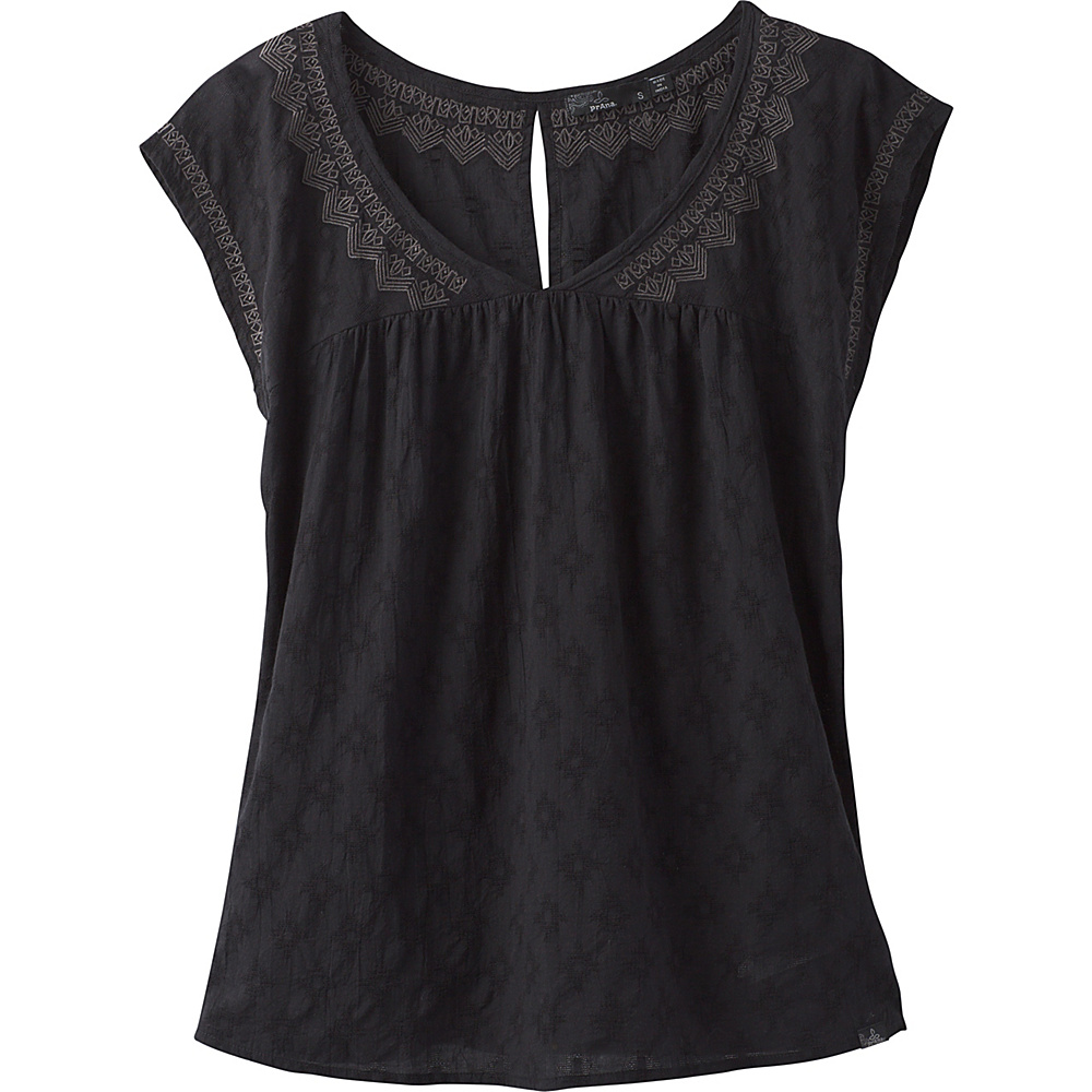 PrAna Blossom Top S - Black - PrAna Womens Apparel - Apparel & Footwear, Women's Apparel
