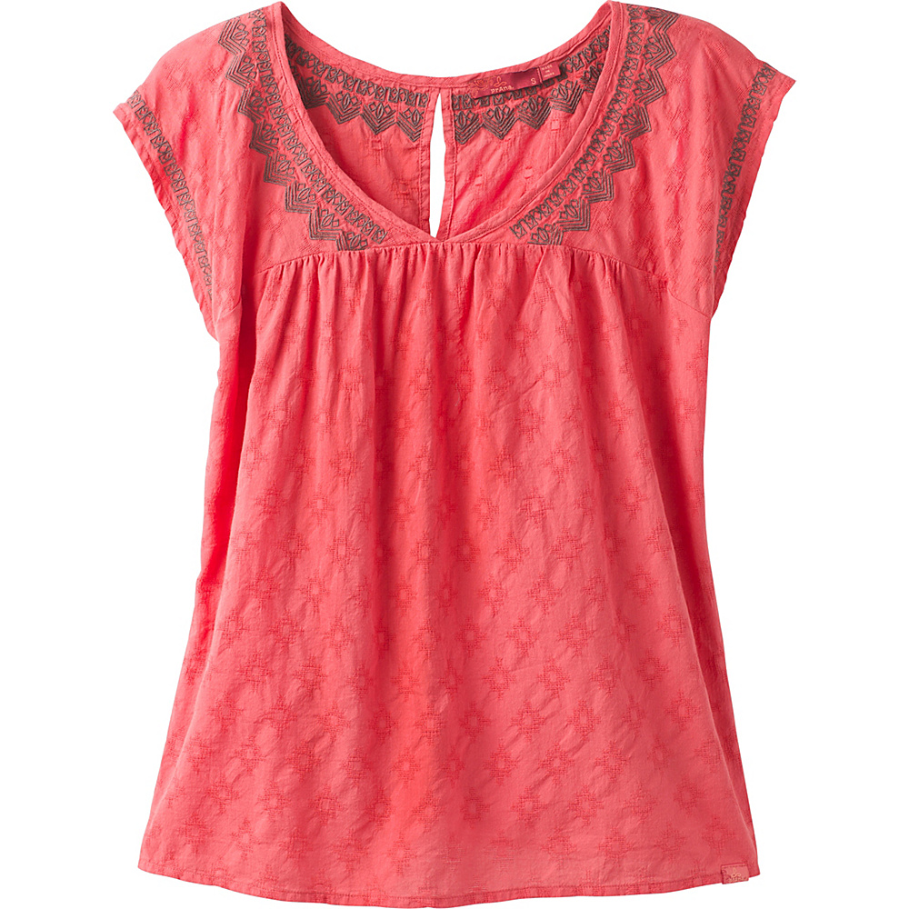 PrAna Blossom Top M - Peach Gerberas - PrAna Womens Apparel - Apparel & Footwear, Women's Apparel