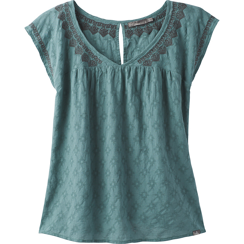PrAna Blossom Top XS - Starling Green - PrAna Womens Apparel - Apparel & Footwear, Women's Apparel