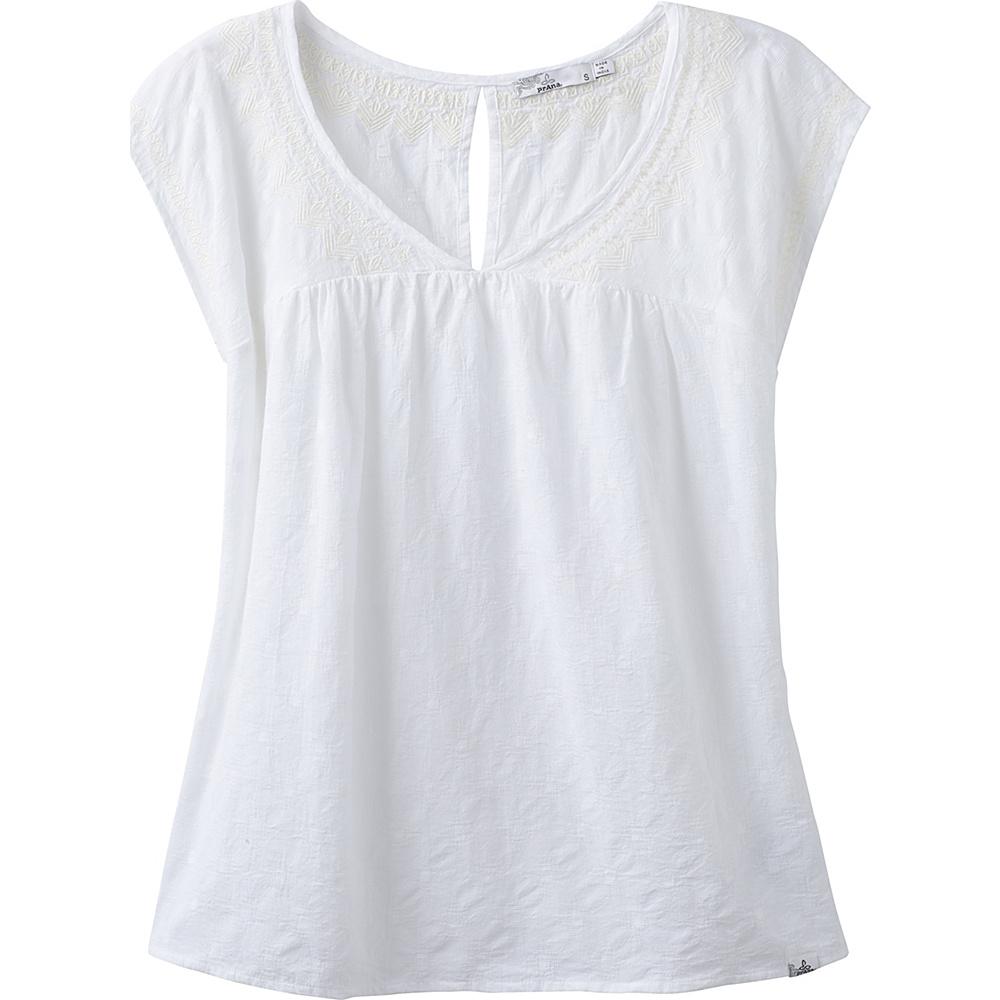 PrAna Blossom Top XS - White - PrAna Womens Apparel - Apparel & Footwear, Women's Apparel