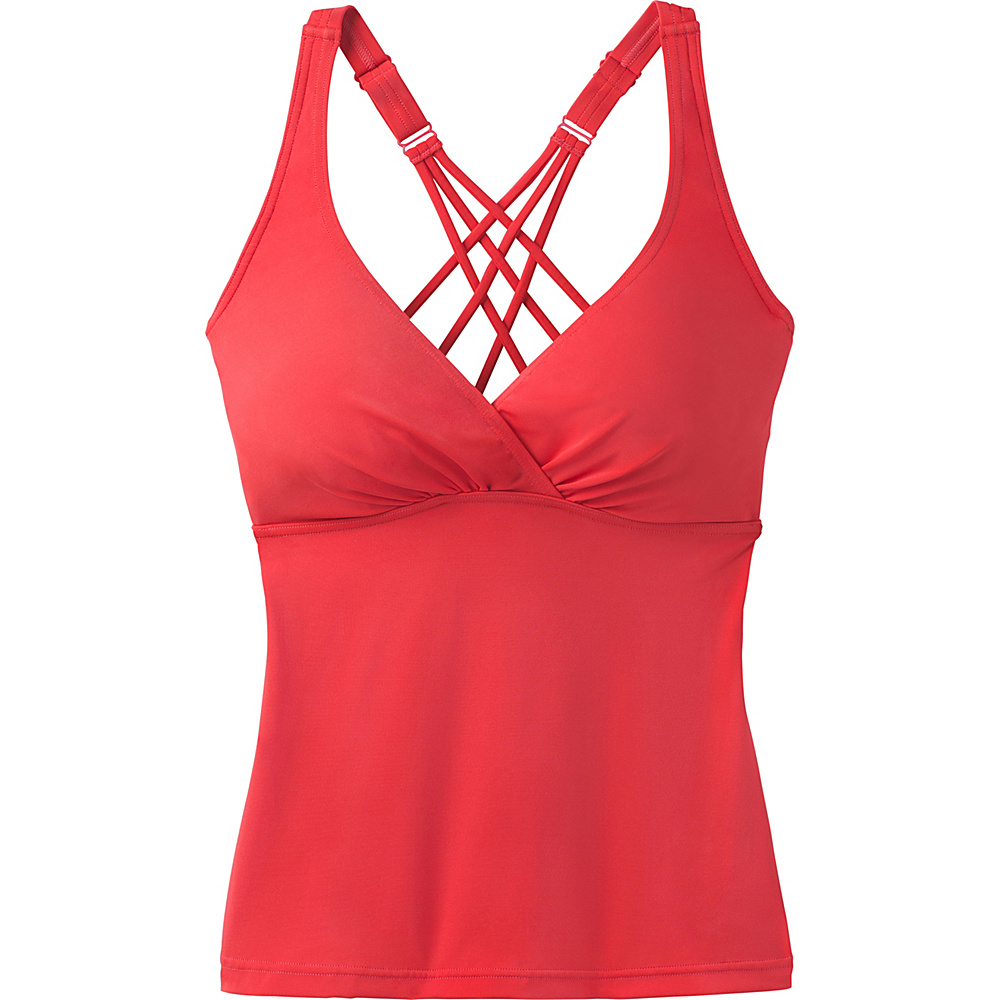 PrAna Kayana Tankini / D-Cup Carmine Pink - PrAna Womens Apparel - Apparel & Footwear, Women's Apparel