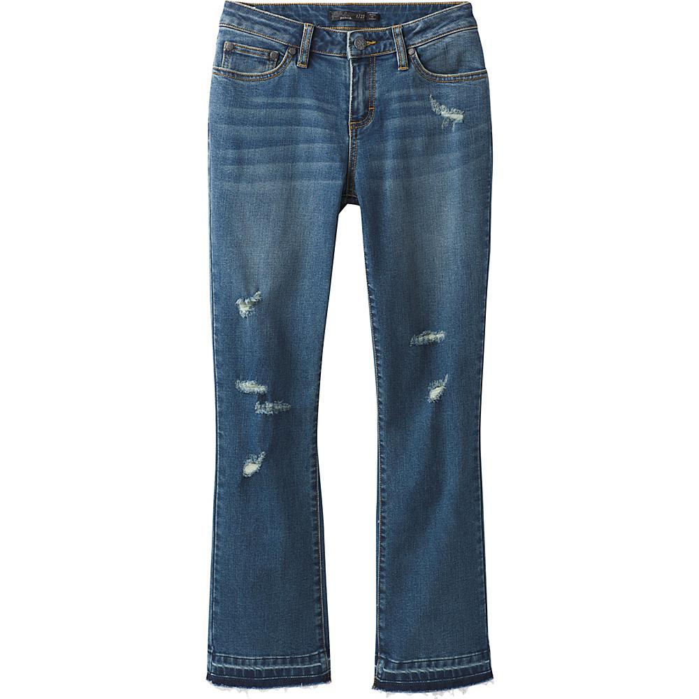 PrAna Cia Cropped Flare 6 - Distressed Antique Blue - PrAna Womens Apparel - Apparel & Footwear, Women's Apparel