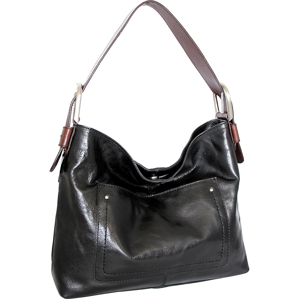 Nino Bossi Heidi Hobo Black - Nino Bossi Leather Handbags - Handbags, Leather Handbags
