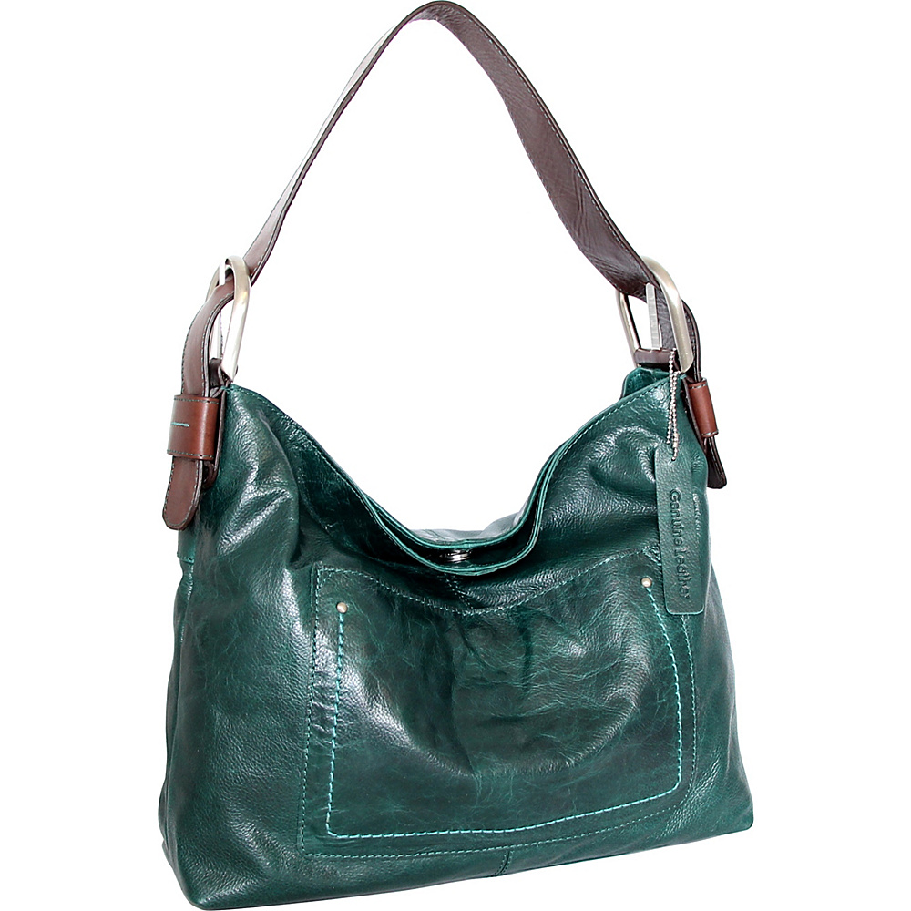 Nino Bossi Heidi Hobo Green - Nino Bossi Leather Handbags - Handbags, Leather Handbags