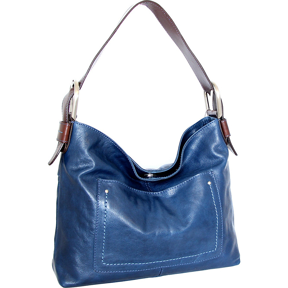 Nino Bossi Heidi Hobo Blue - Nino Bossi Leather Handbags - Handbags, Leather Handbags