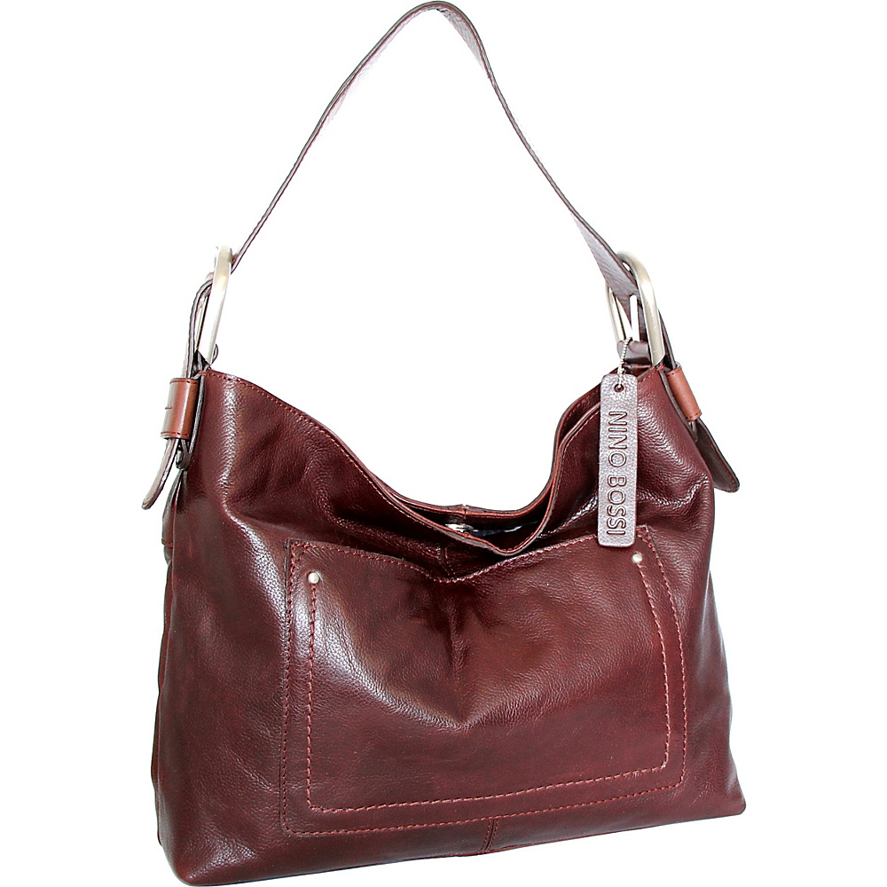Nino Bossi Heidi Hobo Walnut - Nino Bossi Leather Handbags - Handbags, Leather Handbags