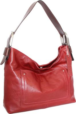 Nino Bossi Heidi Hobo Red - Nino Bossi Leather Handbags