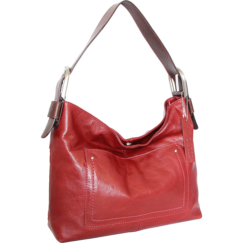 Nino Bossi Heidi Hobo Red - Nino Bossi Leather Handbags - Handbags, Leather Handbags