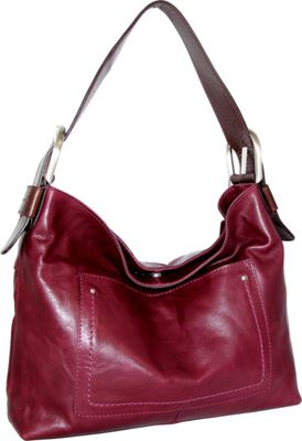 Nino Bossi Heidi Hobo Plum - Nino Bossi Leather Handbags